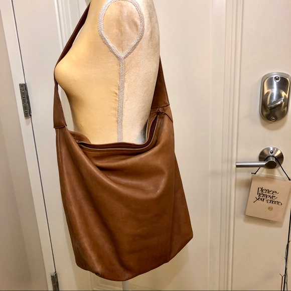 86013cac56 Dkny Bags | Vintage Donna Karan Ny Tan Leather Hobo Bag | Poshmark